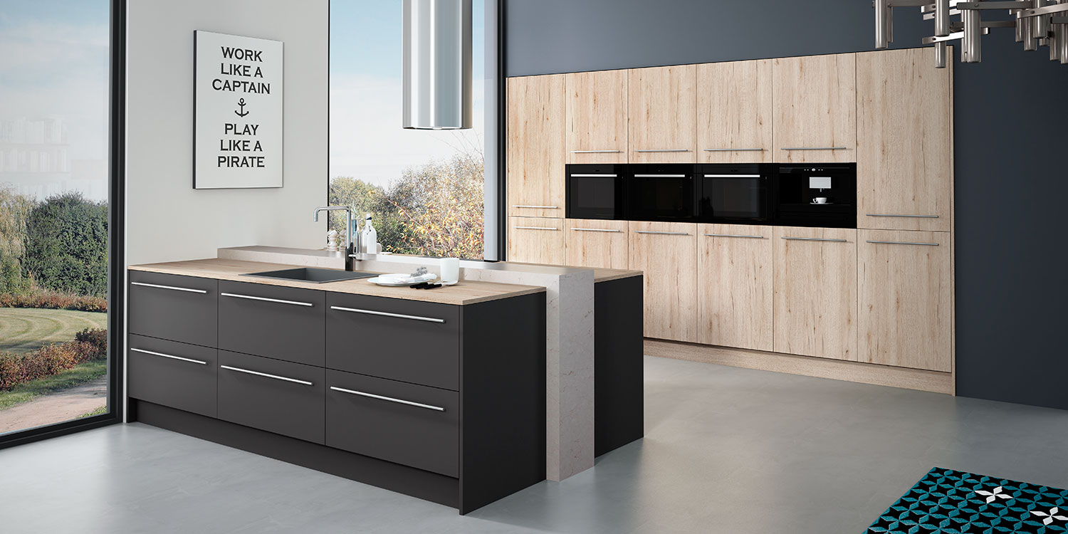 Cocinas modernas the new social kitchen faro by alvic for Cocinas modernas color madera