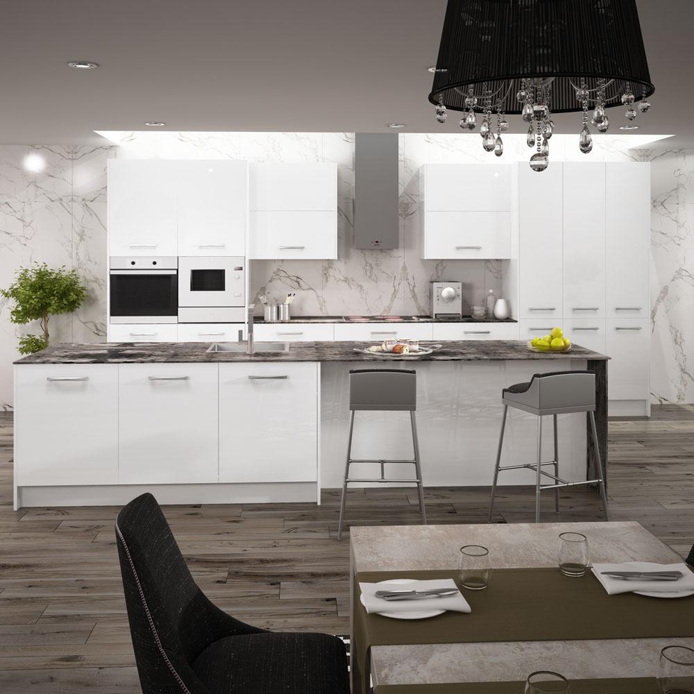 Fotos de cocinas modernas blancas amazing cocina moderna Fotos de cocina