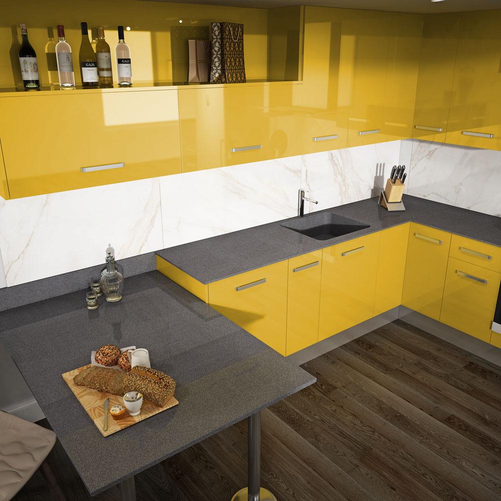 Atrévete con el color de moda en la cocina: El curry - Faro by Alvic