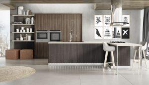 Cocinas modernas madera