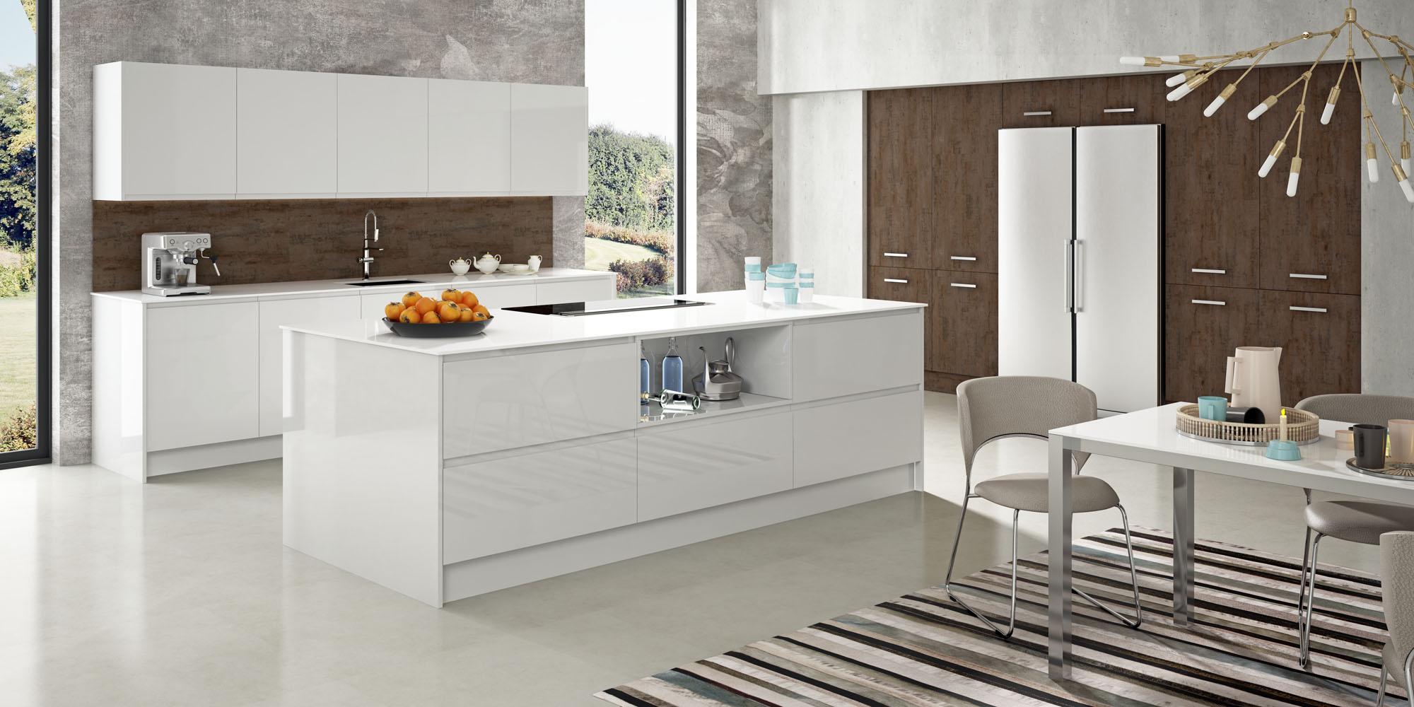 Cocinas Modernas Blancas Faro By Alvic
